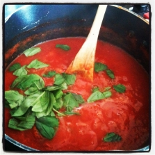 Quick Tomato Sauce - perfect for those Italian moments